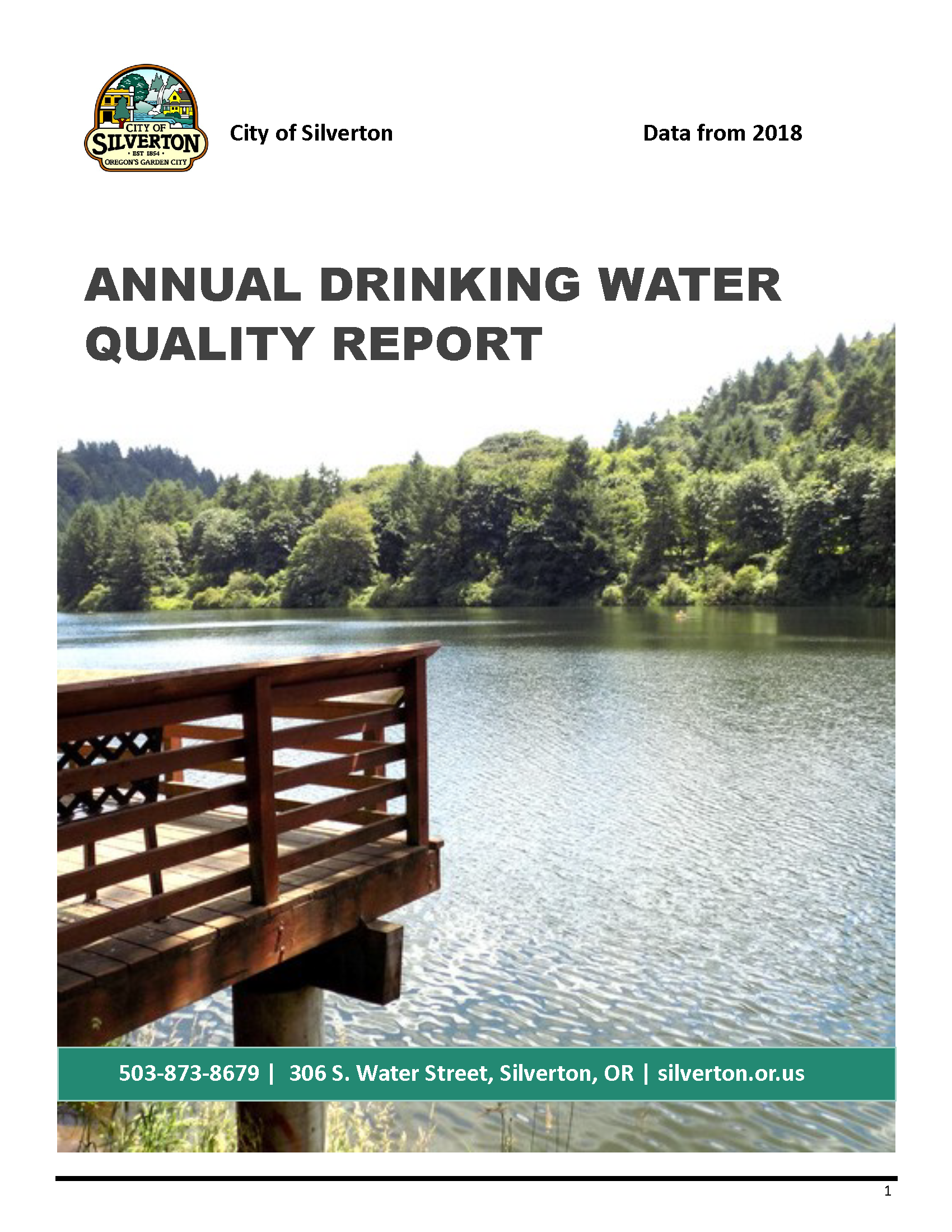 2018 Drinking Water Quality Report Page 1